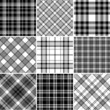 Black and white plaid patterns