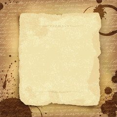 Abstract ancient manuscript background with space for text. Vect
