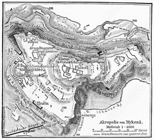 Mykény mapa