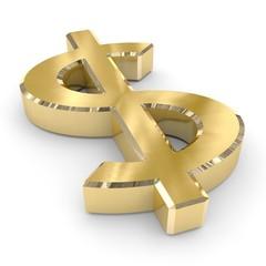 dollaro oro 3d