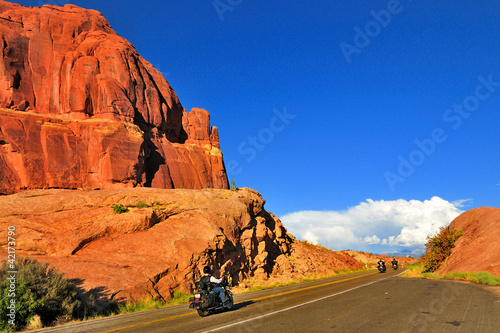 Bikes in Arches National Park, Moab, Utah