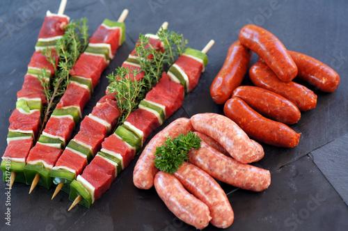 brochettes et mini saucisses crues 4