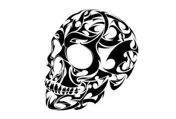 Tribal Skull Tattoo vector design
