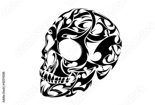 Tribal Skull Tattoo Vector Design Buy Photos Ap Images Detailview