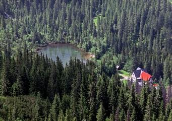 Tatliak lake (Tatliakovo pleso) in Western Tatras (Rohace)
