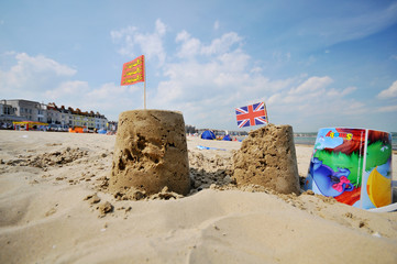 The lovely castle on the beach (uk)