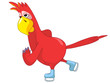 Funny Parrot. skater.