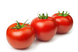 tomates on white background