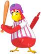 Funny Parrot. Baseball.