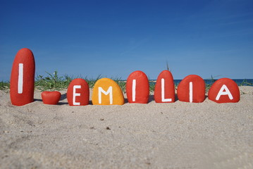 I love Emilia, region of Italy over colourful stones