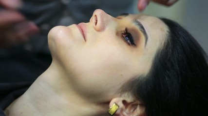 brunette woman with professional makeup 2