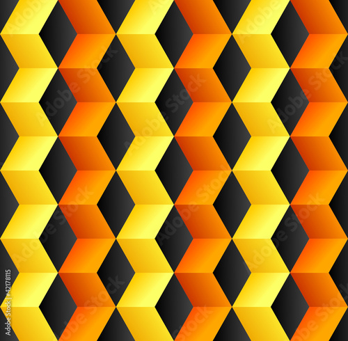 Deurstickers ZigZag Abstract cube colorful background