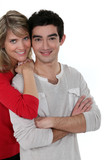 Young couple posing together