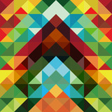 Fototapety Abstract colorful triangle pattern background