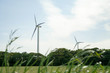 wind power generator in Chiba prefecture, Japan