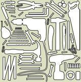 DIY tool - silhouette illustration poster