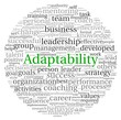 Adaptability concept in word tag cloud