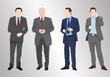 4 Silhouetten männlich business