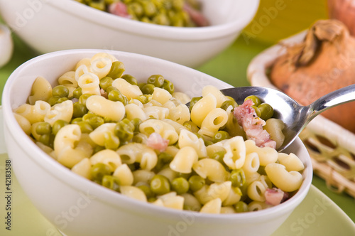 Pea and pasta soup.