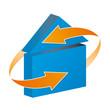 Rund ums Haus Service Plakette Logo Vorlage mit QXP9 Datei