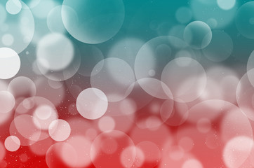 Cyan-Red Bubbles background Flarium, white bubbles