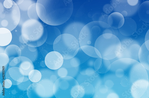 Blue Bubbles background Flarium, white bubbles