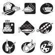 set of different food icons