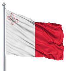 Waving flag of Malta
