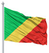 Waving flag of Republic of the Congo