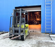 Forklift at large warehouse