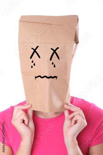 Frau mit weinendem Gesicht