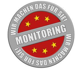 Schild graurot rt WMDFS MONITORING