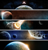Fototapety Planet apocalypse web banner collection