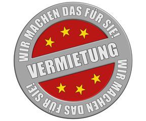 Schild graurot rt WMDFS VERMIETUNG