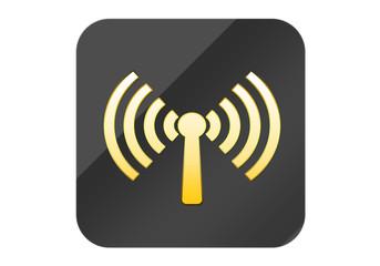 Botón Wi-Fi gris
