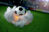 soccer ball starts like a rocket in a stadium 1