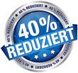 """Button Banner """"40% reduziert"""" blau/silber"""