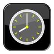 Glossy Button schwarz - 8:00 Uhr / 20:00 Uhr