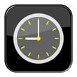 Glossy Button schwarz - 9:00 Uhr / 21 Uhr