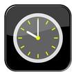 Glossy Button schwarz - 10 Uhr / 22 Uhr