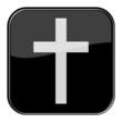 Glossy Button schwarz - Tod