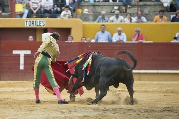 Corrida de toros típica de España.