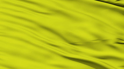 Waving yellow blank flag closeup