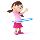 3d rendered illustration of a little girl