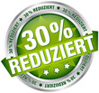 "Button Banner ""30% reduziert"" grün/silber"