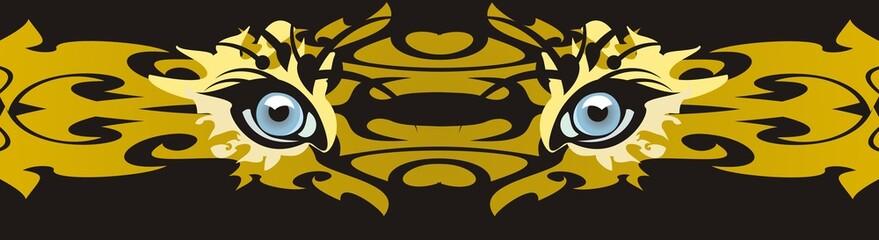 Predator eyes - a decorative strip