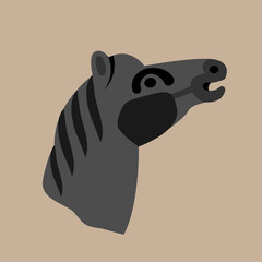 Vector horse on brown background. Eps10