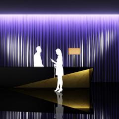 Modern luxury minimal design style interior hotel reception