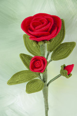red rose crochet