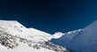 White blue winter panorama